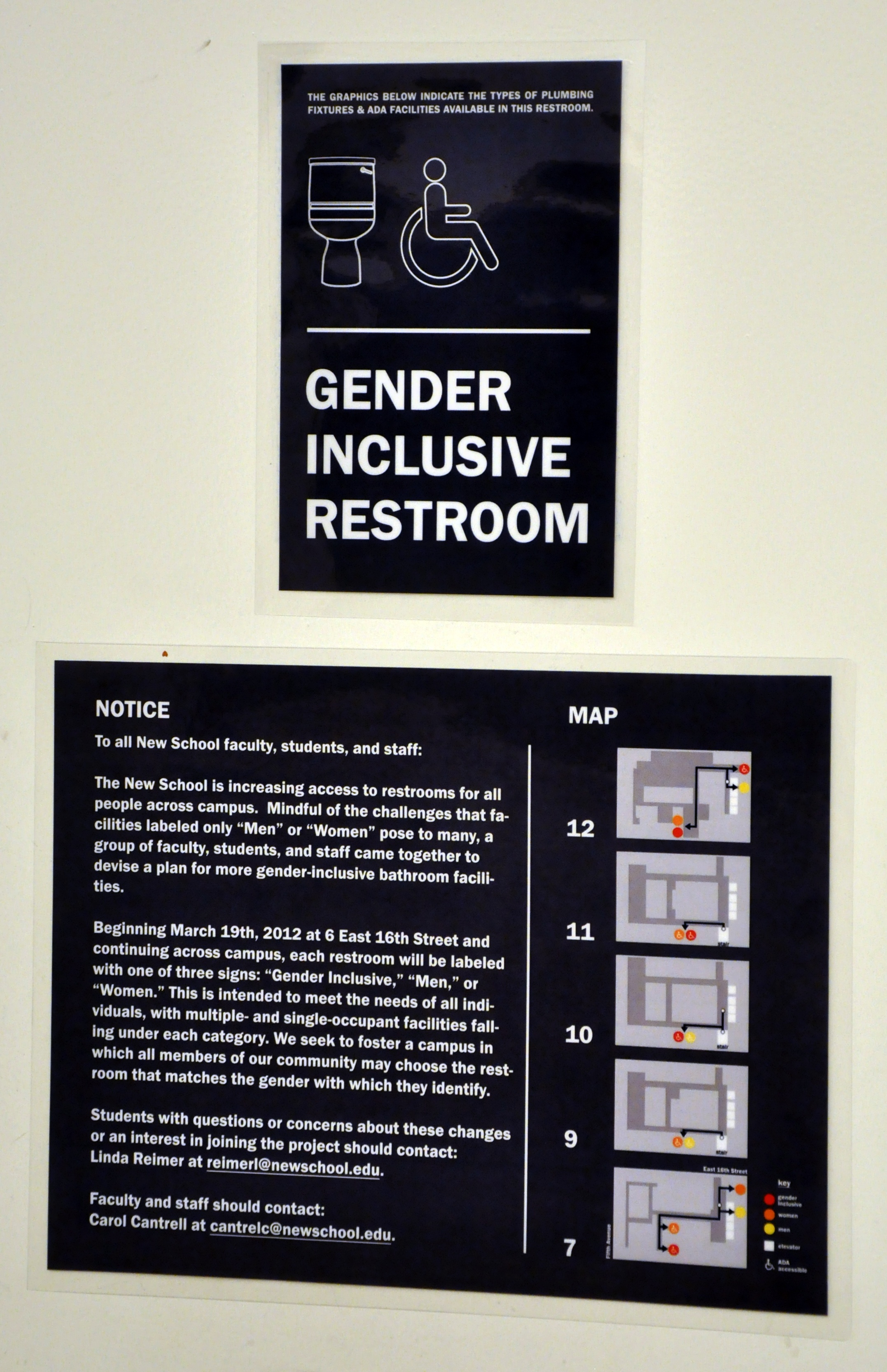 gender inclusive bathrooms arrive at the new school - the new