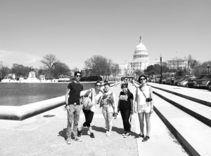 Members from the DREAM Team and students in the Global Studies department attended an immigration reform awareness march in Washington DC in April. (Alexandra Delano)