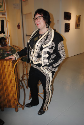 Julie Webb, 48, a gallery owner from Waxahachie, Texas, wearing a vintage mariachi suit from the 1920's.